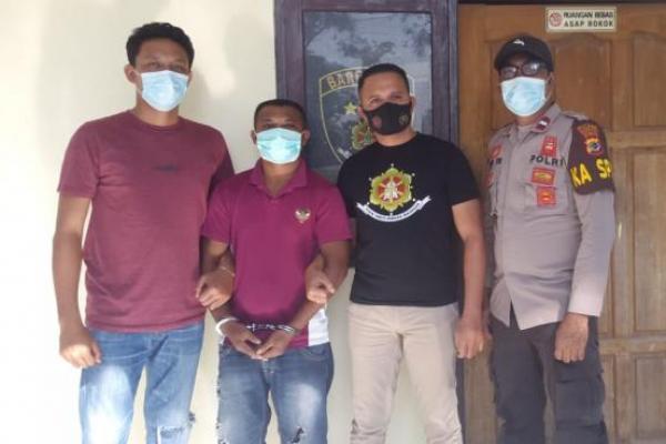 Pelaku begal payudara berinisial NM alias Nopri asal TTS yang berhasil diamankan jajaran Polsek Kelapa Lima.
