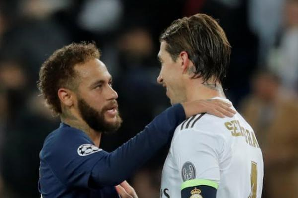Neymar dan Sergio Ramos (Foto: Reuters)