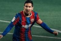Selebrasi Lionel Messi usai menjebol gawang Getafe (foto: Fansbarca)