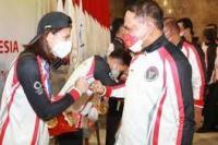 Menpora Sambut Kedatangan Atlet Kontingen Indonesia Dalam Olimpiade Tokyo di Bandara Soeta (dok : kemenpora.go.id)