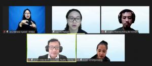 """Pembicara pada acara workshop""""Suara Pemuda Indonesia: Berbagi Aspirasi untuk Aksi Iklim"""" digelar Kamis (14/10/2021) sebagai bagian dari Pekan Diplomasi Iklim Uni Eropa 2021."""
